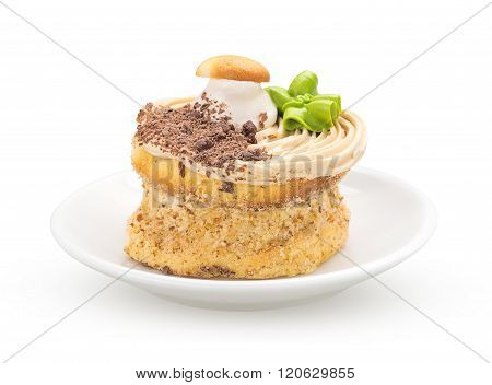 Cake On A Saucer Front View