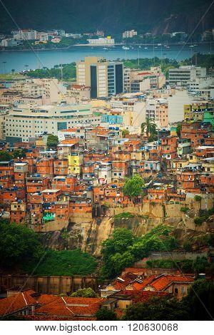 Brazilian Slum In Rio De Janeiro