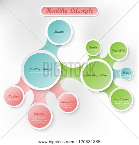 Healthy body and vitality lifestyle concept infographics