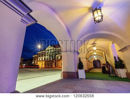 View From Under The Arches On Market Sqare In Kielce.