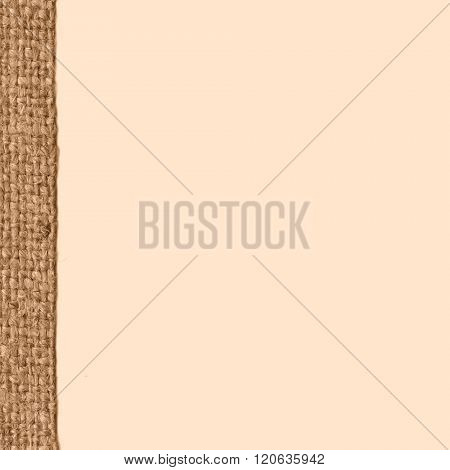 Textile tablecloth, fabric decoration, buff canvas, obsolete material, retro-styled background