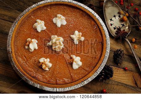 Pumpkin Pie Thanksgiving Day Dessert