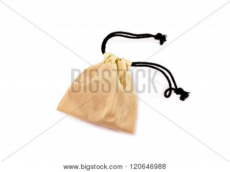 Pouch For Jewelry Isolated Over White.