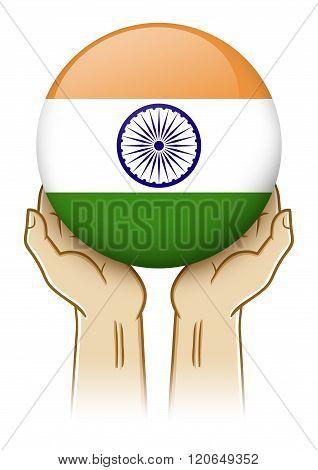 Pray For India Illustration