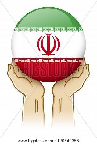 Pray For Iran Illustration