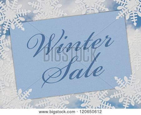 Winter Sale Card