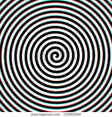 3d effect hypnosis spiral vector illustration