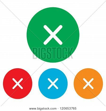 Cross sign. Colorfull set