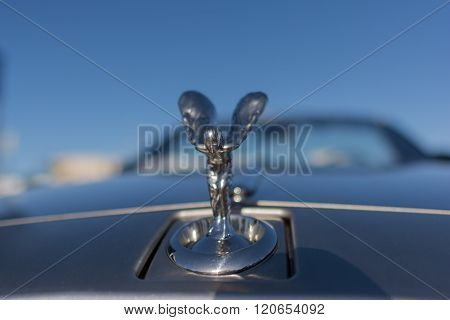 The Spirit Of Ecstasy Ornament On Rolls-royce Car