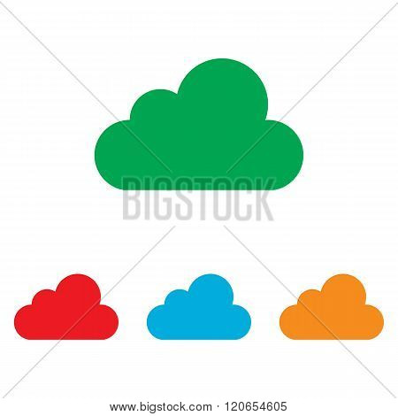 Cloud sign. Colorfull set