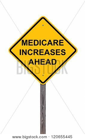 Caution Sign - Medicare Increases Ahead
