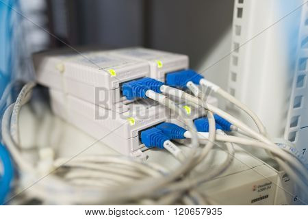 Lan Cable In Network Room