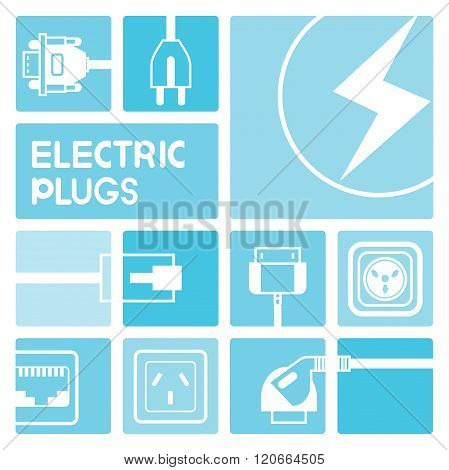 electric plug icons