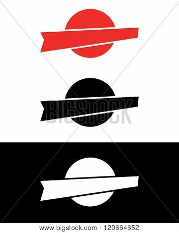 Vector Retro Attention Grabber Set in Red, Black and Reverse
