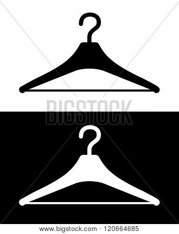Vector Clothing Hanger Set in Black and Reverse
