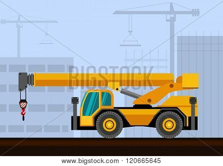 Down Cab Rough Terrain Crane
