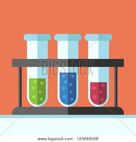 Multicolor Test Tubes Rack