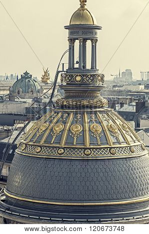 Vintage Aerial View From The Terrace Of Store Printemps, Paris