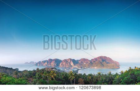 Panorama Of Phi Phi Island