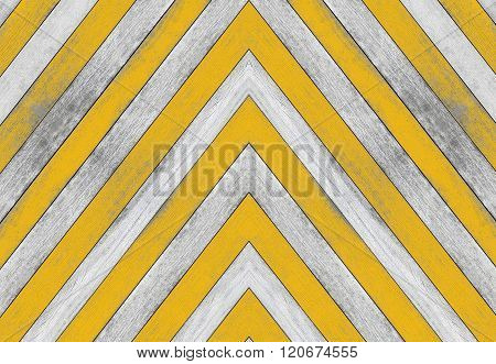 Acute angle, old white and yellow wood texture