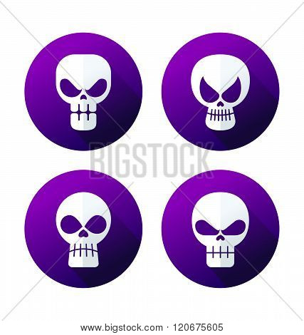 style skull icon collection