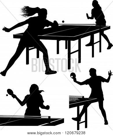 table tennis silhouttes - girls