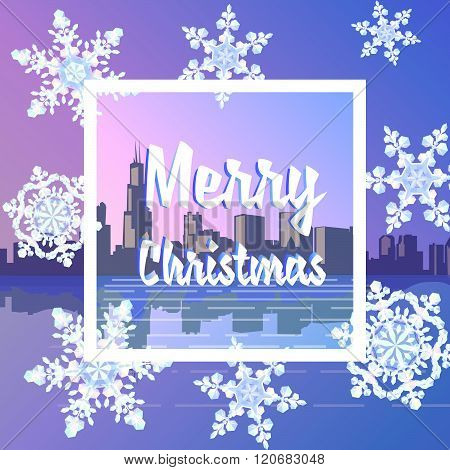 Merry Christmas Snowy City