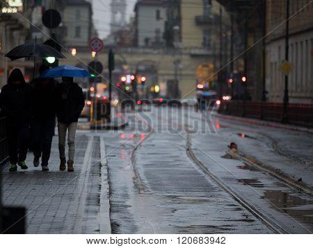 Rainy days in the city