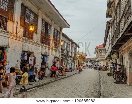 The City Of Vigan At Twilight