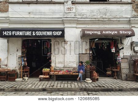 A Souvenir Shop In Historic Town Of Vigan.
