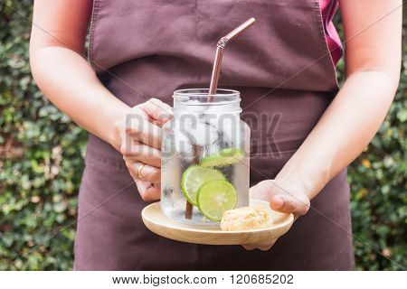 Butter Scone And Lime Infused Detox Water