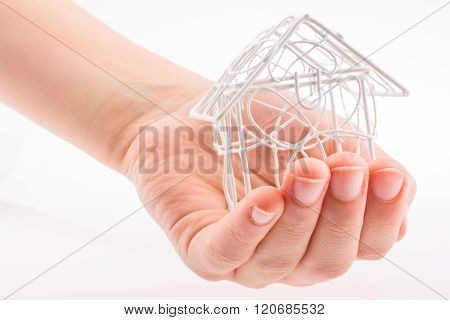Model House In Hand