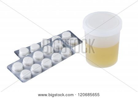 Jar Of Urine And Pills