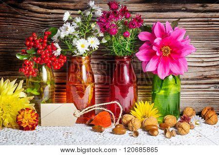 Autumn Flowers, Decoration In Autumn