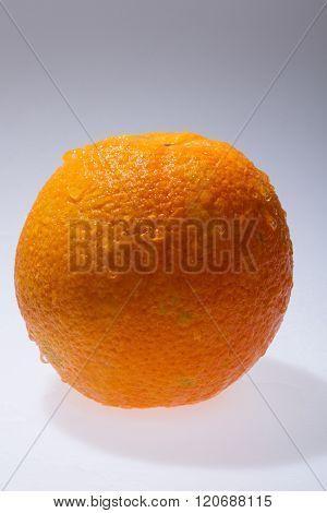 Orange fruits and Splashing water Isolated on white background