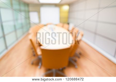 Blur Image Of Empty Boardroom background
