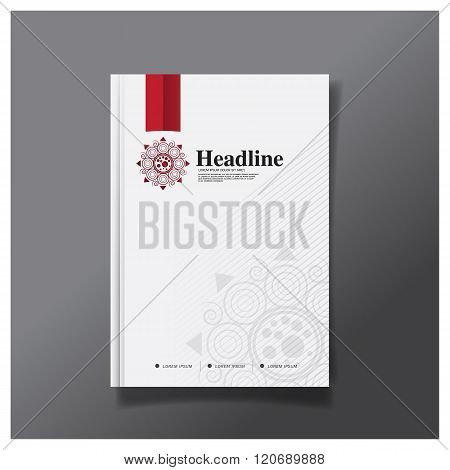 Business brochure flyer cover design layout template