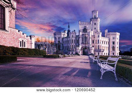 Famous Castle Hluboka,czech