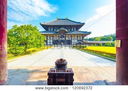Daibutsuden Great Buddha Hall Pillars Nobody H