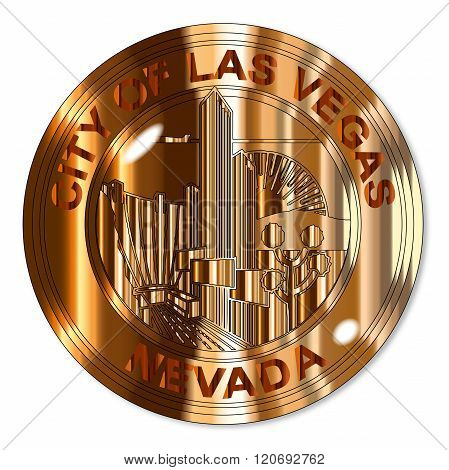 Las Vegas City Brass Seal