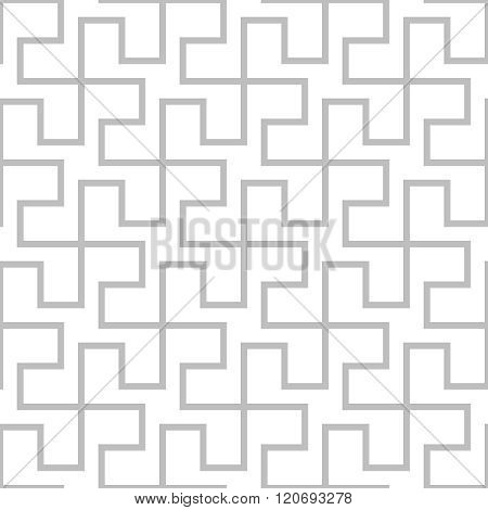 Seamless Geometric Pattern. Vector Gray Simple Abstract Background In Indonesia Style