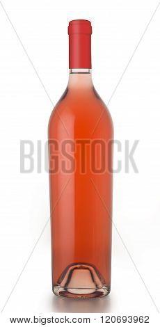 Unlabeled Rose Wine Bottle