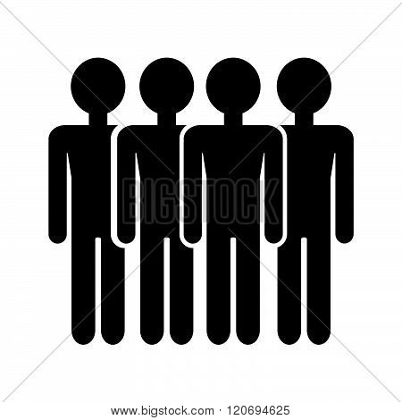 an images of Population People Icon Illustration design.