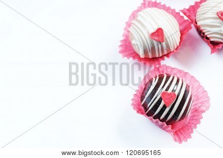Heart Chocolate cake ball