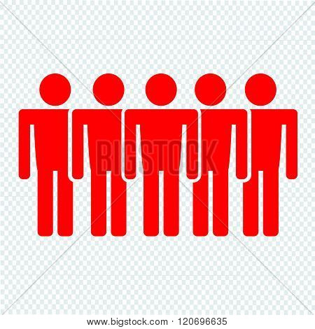 an iamages of Population People Icon Illustration design