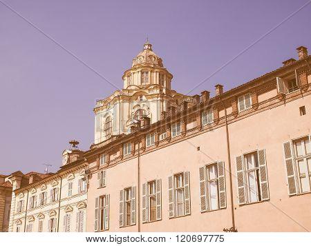 San Lorenzo Church In Turin Vintage