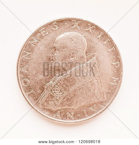 Vatican Lira Coin Vintage