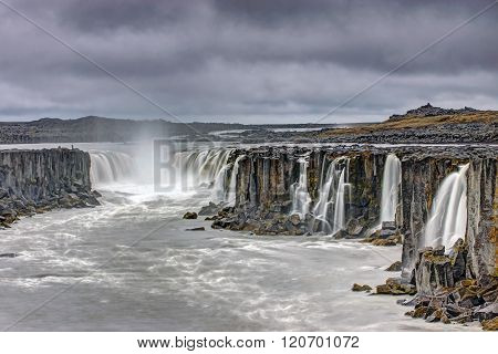The powerful Selfoss waterfall