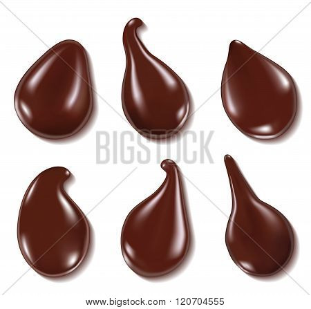 Chocolate Drops. Vector Illustration