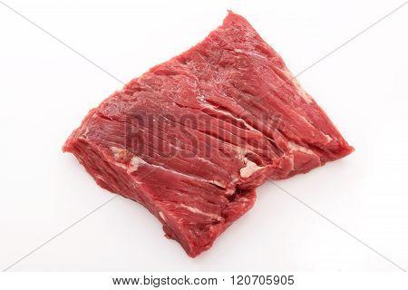 photos of raw uncooked brisket flat iron steak